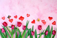 Tulips, Valentines and flying butterflies.