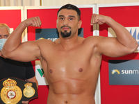 German heavyweight boxer Agit Kabayel from SES Boxing before SES Boxing Gala on 18.7.2020 Magdeburg