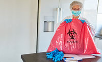 Abfallentsorgung von infektiösen Müll in Klinik