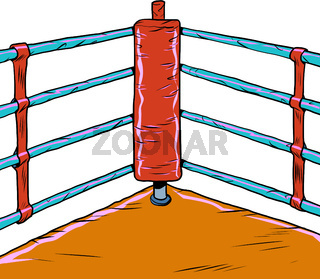 Red corner of the Boxing ring