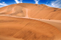 Orange dunes in the Namib-desert