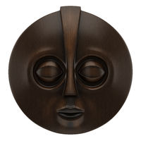wooden african mask isolated on white background