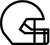 American football helmet sign