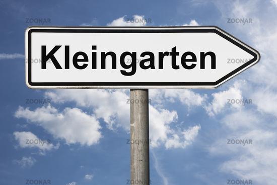 Wegweiser Kleingarten | signpost Kleingarten (Allotment)