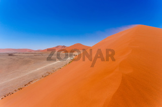 Dune 45 in sossusvlei Namibia, view from the top of a Dune 45 in sossusvlei Namibia, view from the top of a dune