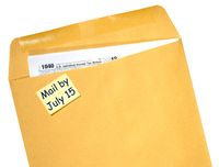 Tax Day reminder for July 15 due to Coronavirus delay on envelope