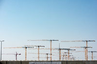 Major construction site of Terminal 3 at Frankfurt Airport