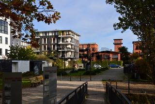 Park im Herbst im Stadtteil Rummelsburg, Lichtenberg, Berlin