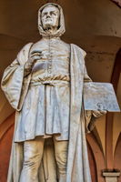 padua, italy - 19.03.2019 - historical statue of the giotto