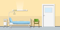 Illustration of a sickroom