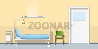 Illustration of a sickroom