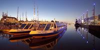 New harbor in the evening, Havenwelten, Bremerhaven, Bremen, Germany, Europe