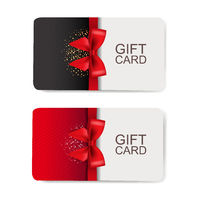 Two Gift Cards Set Isolated White Background
