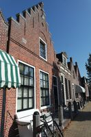 Brick facades in Friesland. Workum, the Netherlands