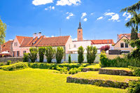 Old baroque town of Varazdin park and landmarks view