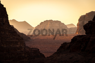 Sunrise in Wadi Rum desert, Jordan, Middle East