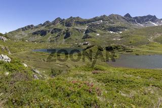 Zwei der Giglachseen in der Steiermark, Österreich, im Sommer