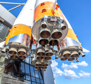 Space rocket engines of the russian spacecraft