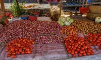 fresh vegetables at the marketplace, Madagascar