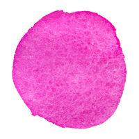 Watercolor pink blot circle