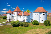 Varazdin. Old town of Varazdin park and landmarks