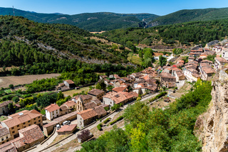 Panoramic view of Frias a picturesque small town in Burgos