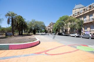 Cordoba Argentina historic buildings in Yrigogen avenue