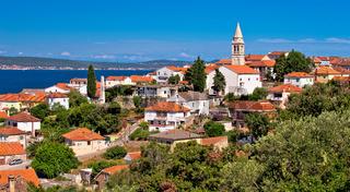 Zadar archipelago. Kali village on Ugljan island old architecture panoramic view