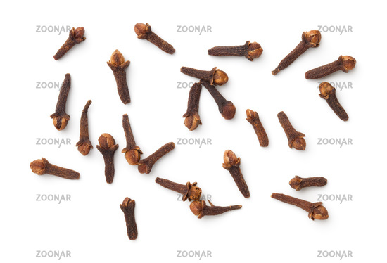 Dried Cloves Spice Isolated On White Background