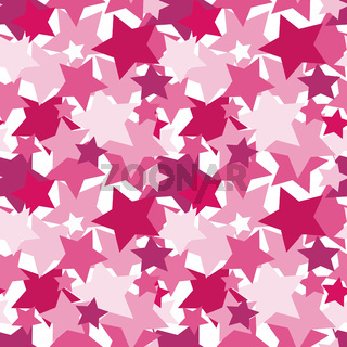 Vector illustration, seamless texture, pattern, square - pink stars.