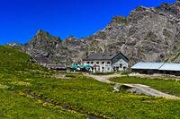 Mountain inn Refuge de la Tour d'Anzeindaz, Alp Anzeindaz, Bex, Vaud, Switzerland