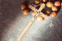 Vintage wooden Franciscan rosary