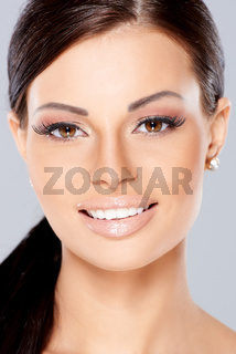Close up of Smiling beautiful woman