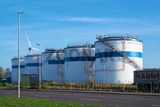 Treibstofflager in einem Gewerbegebiet in Magdeburg