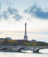 Sienna river Paris Eiffel tower