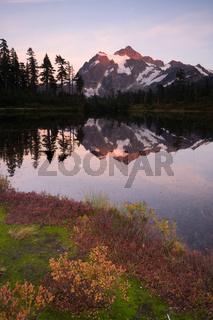 Mount Mt. Shuskan High Peak Picture Lake North Cascades