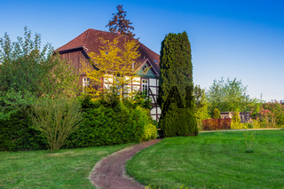 Stately country house with garden park, Germany