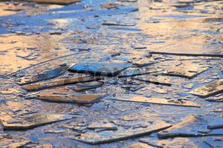 Thin blue ice