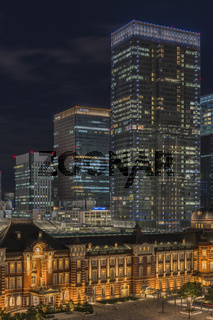 Marunouchi side of Tokyo railway station in the Chiyoda City, Tokyo, Japan.  The stati