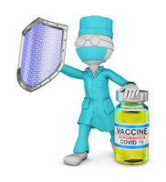Doctor with vaccine