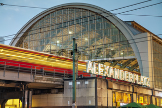 Alexanderplatz subway station in Berlin