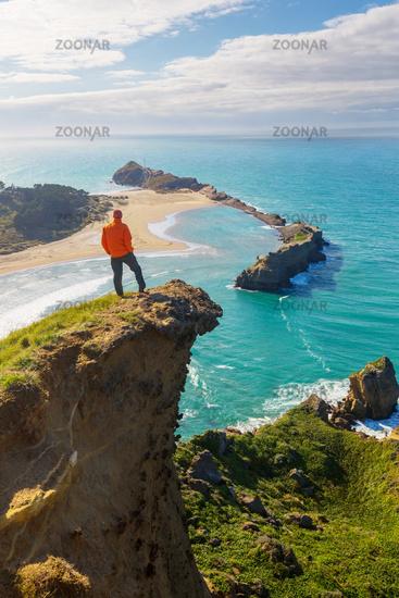 Hike in New Zealand coast