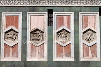 Hexagonal reliefs on the Giotto Campanile of Florence