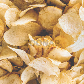 Rustic chips golden pattern