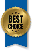 Best Choice Badge With Ribbon And White Background