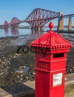 British Postbox And Forth Bridge