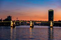 The Main River in Frankfurt at night