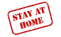 Stay At Home Rubber Stamp Vector