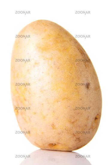One separated fresh potatoe.