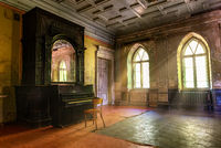 Piano in abandoned castle